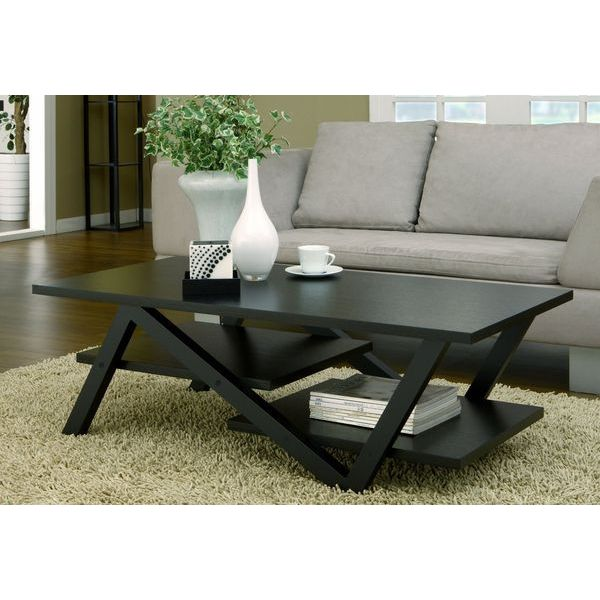 Furniture of America Finley Rectangular Coffee Table, Black