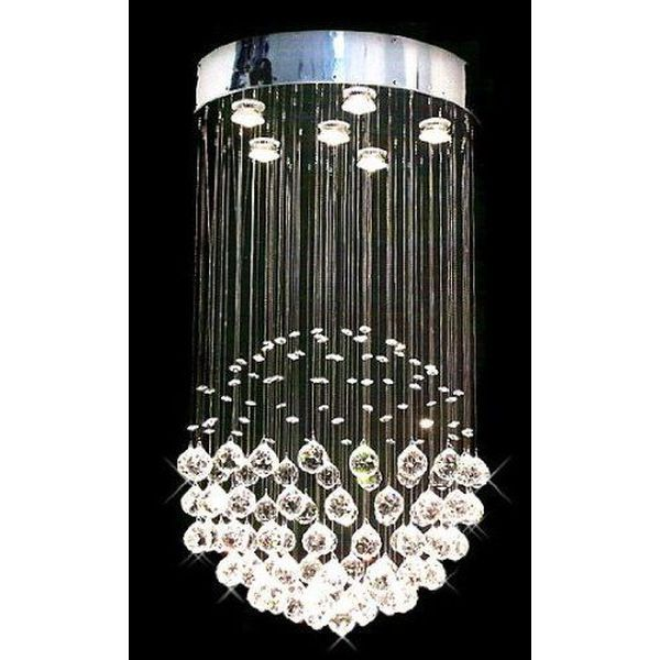 Unique Rain Drop Contemporary Chandelier