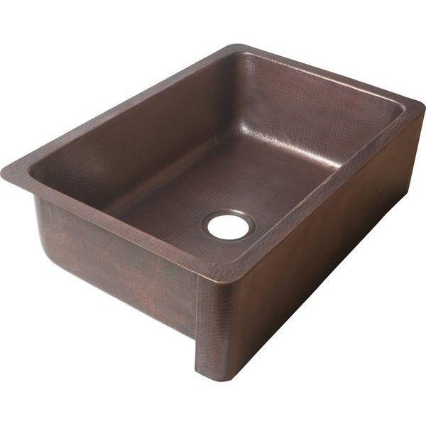 EcosinksFront Dual MountAntique Copper Sink