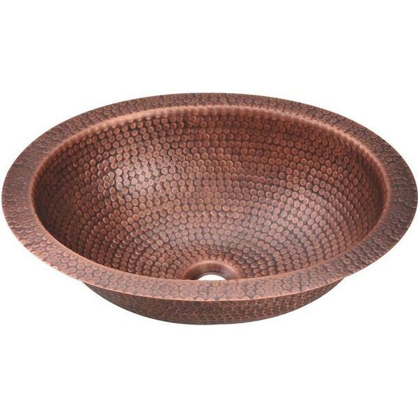 MR Direct Single Bowl Oval Copper Sink