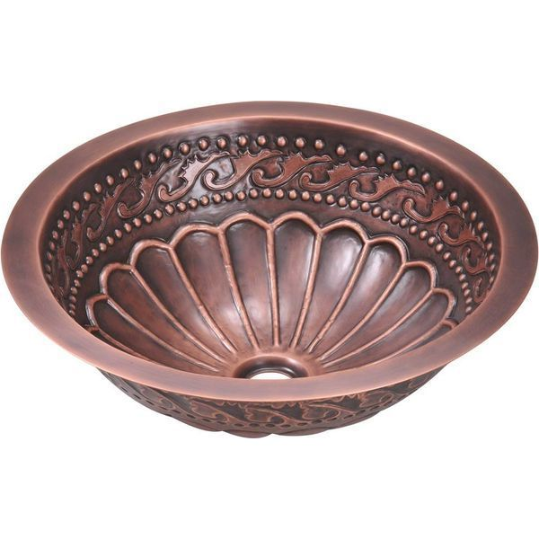 MR Direct Single Bowl Copper Bathroom Sink