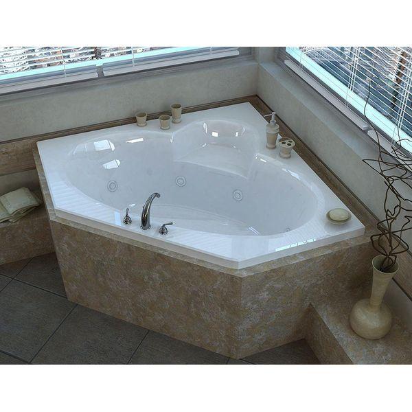 Jacuzzi Capella Acrylic Corner Soaking Bath, White Finish