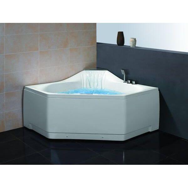 Ariel Bath Platinum Corner Whirlpool Bathtub - Pentagon