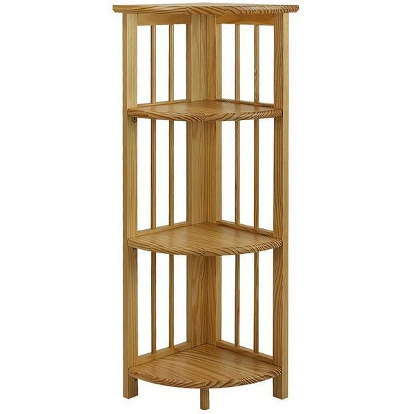 Yu Shan 4 Shelf Corner Bookcase