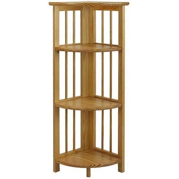 Yu Shan 4 Shelf Corner Bookcase