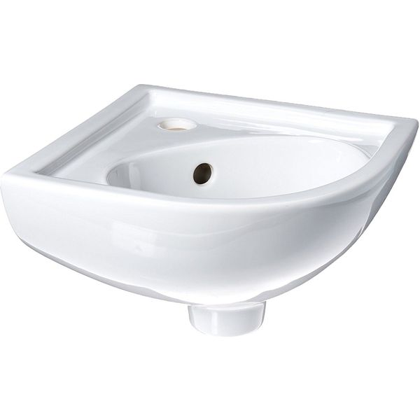 Barclay Petite Vitreous China Wall-Hung Corner Basin