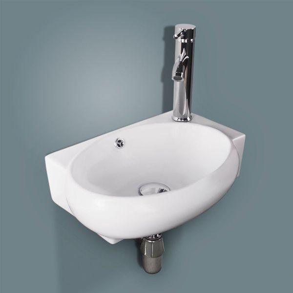 Alpha Bathroom Corner Wall Hung Sink Basin