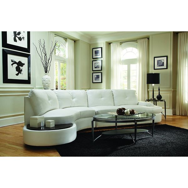Elements Fine Vittorio Top Grain Leather Sectional