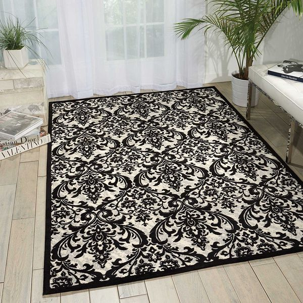 Nourison Contemporary Damask Rug