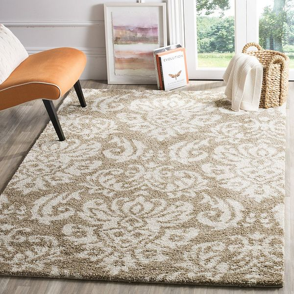 Safavieh Florida Shag Collection Damask Rug