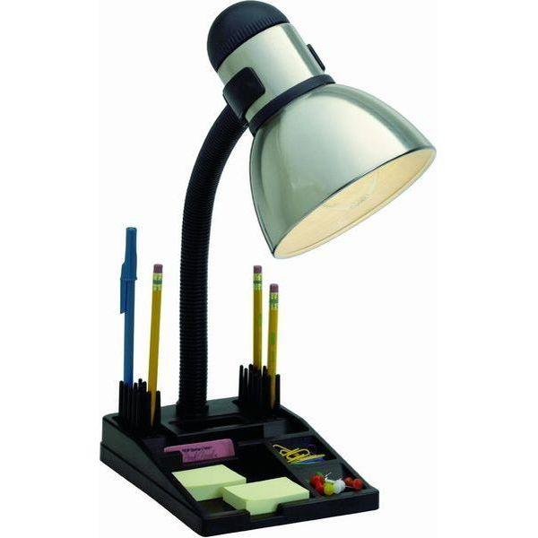 Satco Products Steel/Black Organizer Desk Lamp