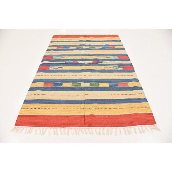 Unique Loom Flatweave Kilim Dhurrie Rug