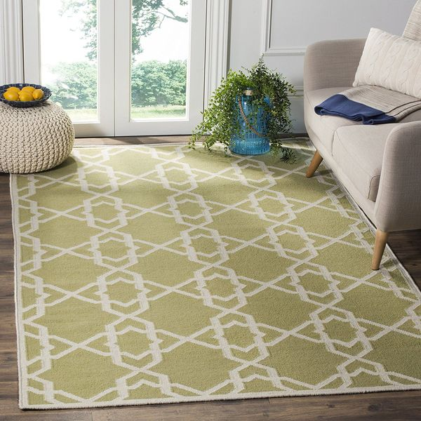 Safavieh Olive and Ivory Wool Area Rug