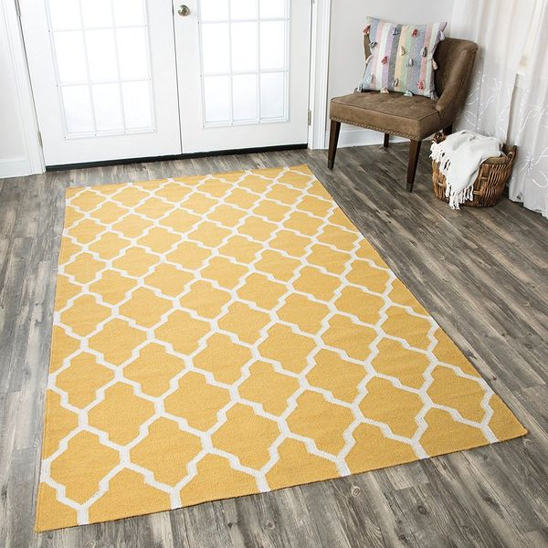Rizzy Home Yellow Area Rug