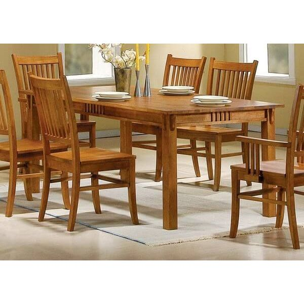 Coaster Mission Style Dining Table, Burnished Oak Solid Hardwood