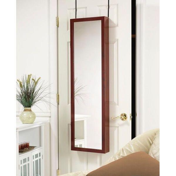 Over the Door Mirror/Jewelry Armoire
