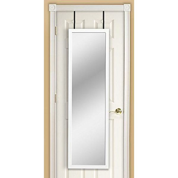 Mirrotek Over the Door Mirror, White