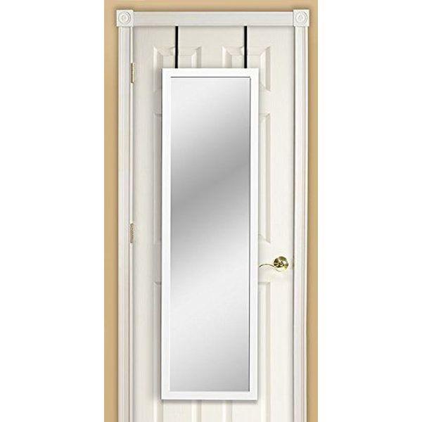 Mirrotek Over the Door Mirror, White