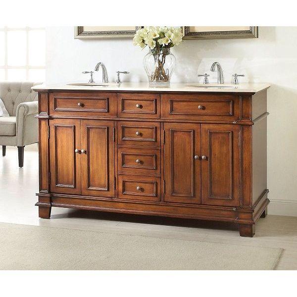 60-inch Double Sink Sanford Bathroom Vanity