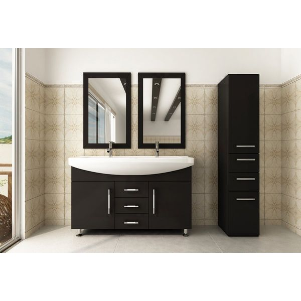 48-inch Celine Double Sink Modern Bathroom Vanity Cabinet