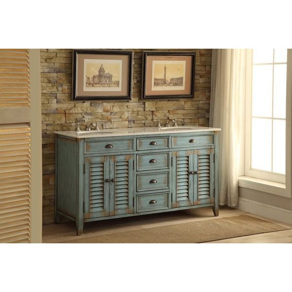 60-inch Cottage Abbeville Bathroom Double Sink Bathroom Vanity