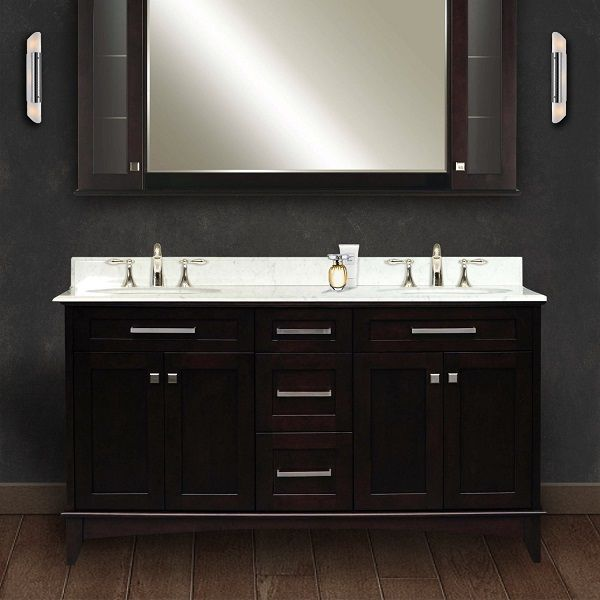 Water Creation 60-Inch Double Sink Bathroom Vanity Set