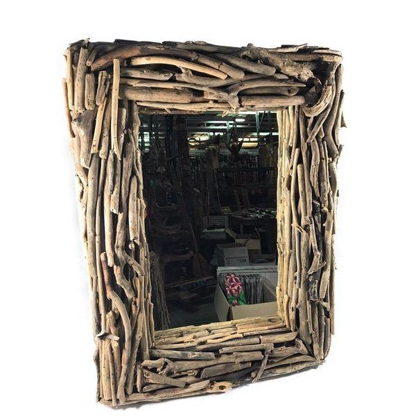 tikimaster Rectangular Driftwood Mirror