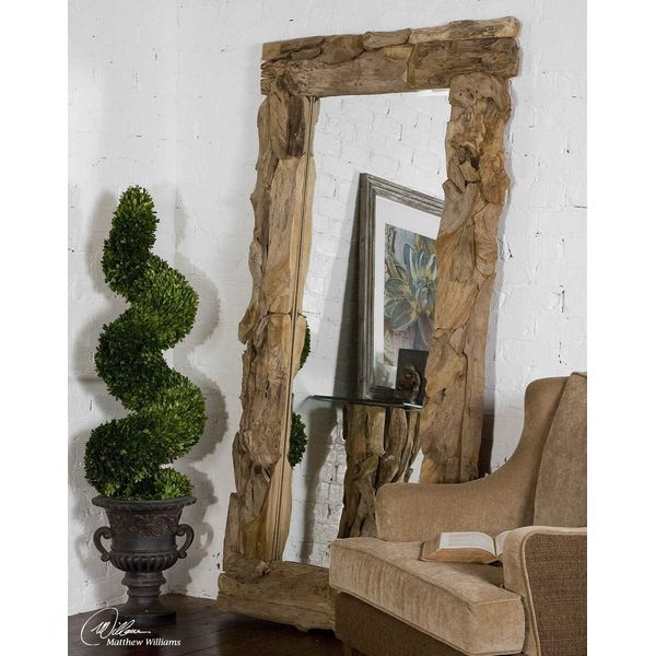 Extra Large Driftwood Leaner Mirror