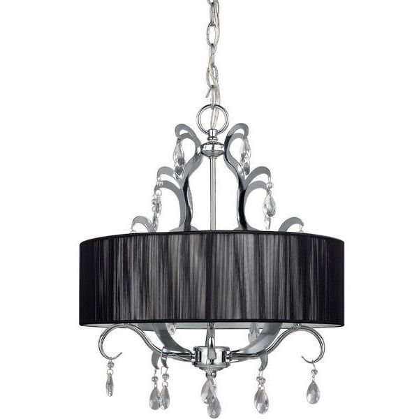 CANARM LTD. Crawford 4 Bulb Drum Shade Chandelier
