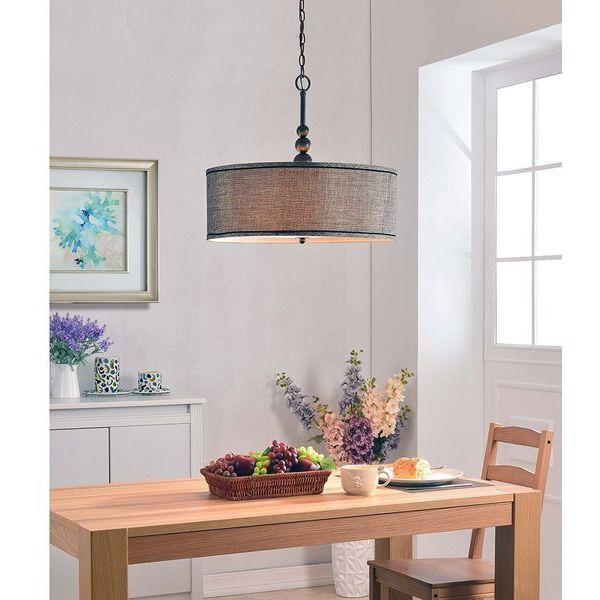Kenroy Home Margot 3 Light Oil Rubbed Bronze Pendant