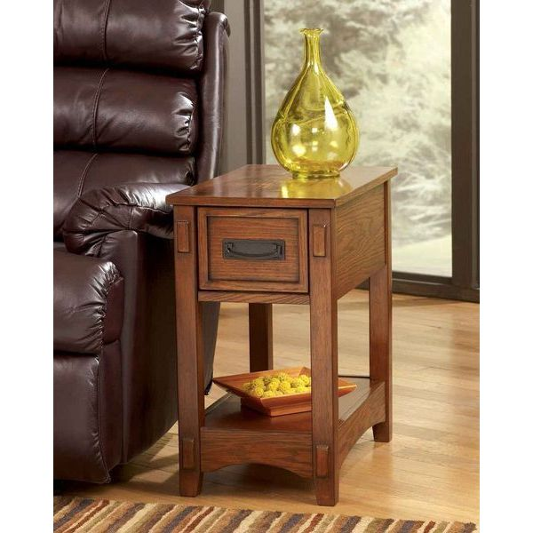 Signature Design by Ashley Contemporary Brown End Table
