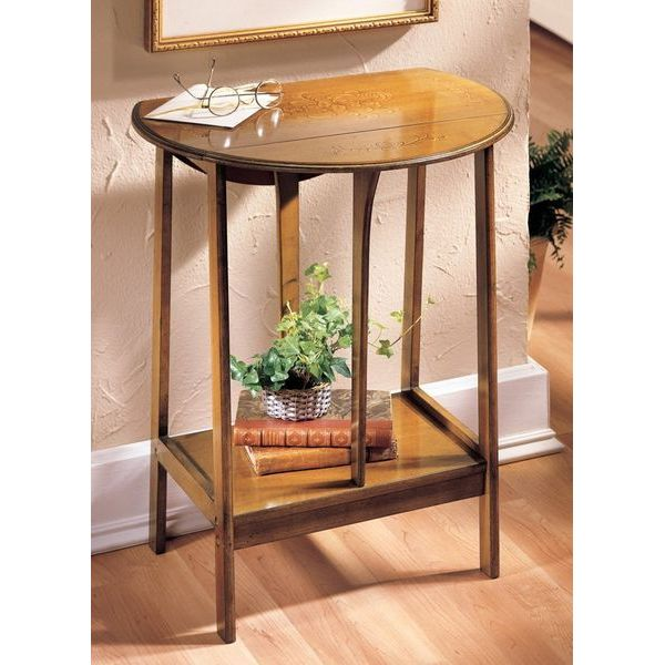 Wooden English Dropleaf Accent Table