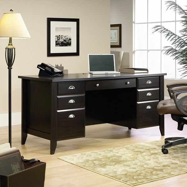 Sauder Shoal Creek Jamocha Wood Executive Desk