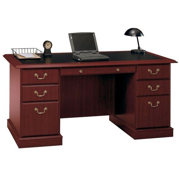 Harvest Cherry 66-Inch Executive Desk