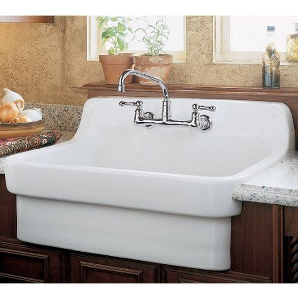 American Standard Country Kitchen Sink with 8-Inch Centers, White