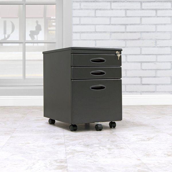 Calico Designs File Cabinet in Black
