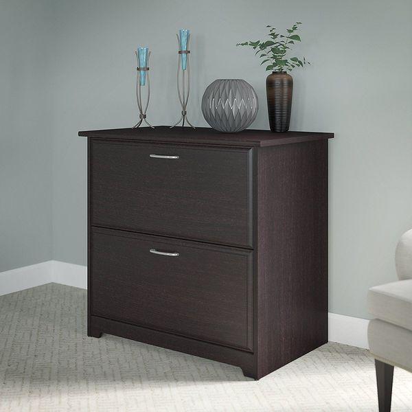 Bush Furniture Cabot Collection: 2-Drawer Lateral File, Espresso Oak