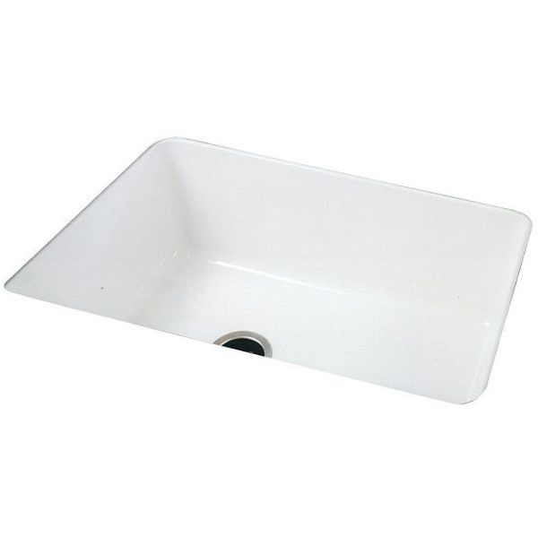 Rohl Single Bowl Allia Undermount Fireclay Sink, White