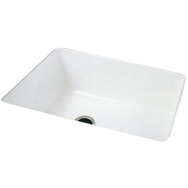 Rohl Single Bowl Allia Undermount Fireclay Sink, White
