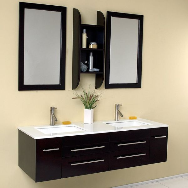 30-inch Wall Mounted Bathroom Vanity Wall Mount with Ceramic Top Sink