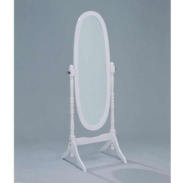 Cheval Mirror in White Finish