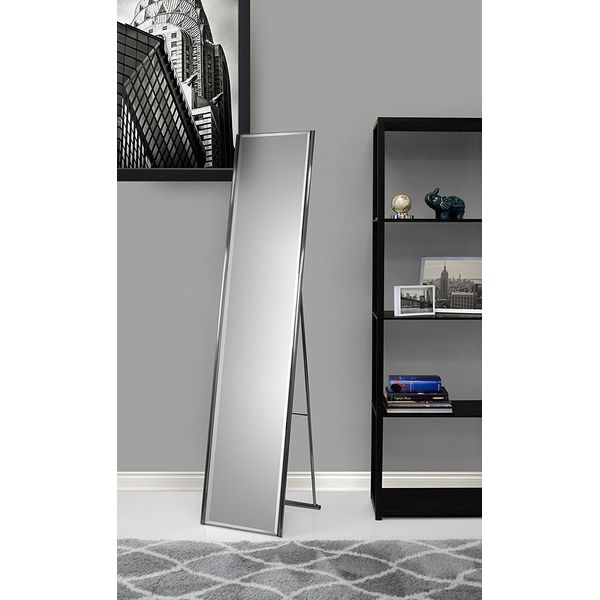 Steel Adesso Alice Floor Mirror