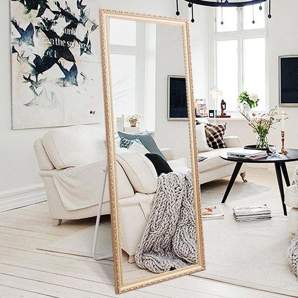 H&ALarge Rectangle Wooden Floor Mirror