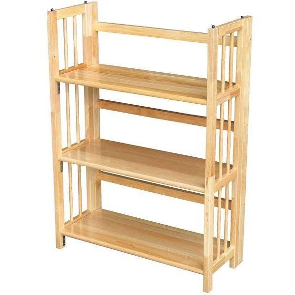 Yu Shan 3 Shelf Stackable Folding Bookcase