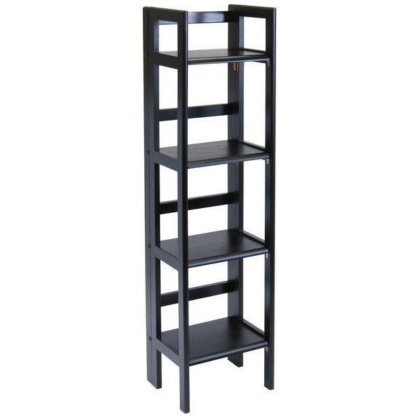 Winsome Wood Black Folding 4-Tier Shelf