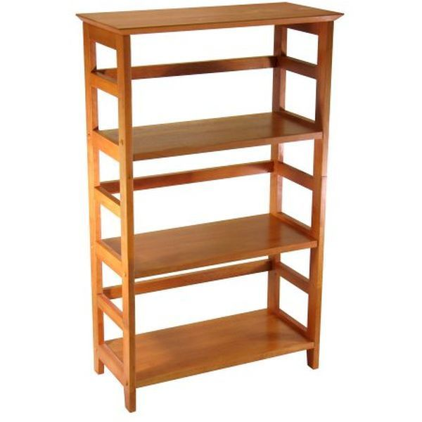 Winsome Wood Honey 4-Tier Bookshelf