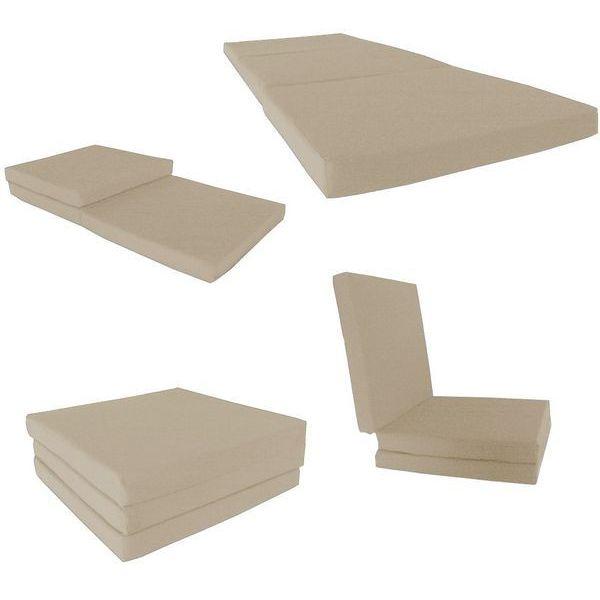 Tan Shikibuton Trifold Foam Bed