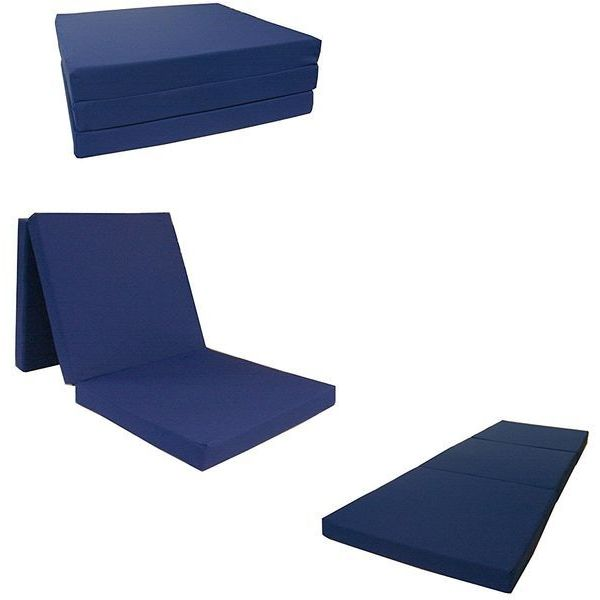 Navy Shikibuton Trifold Foam Bed