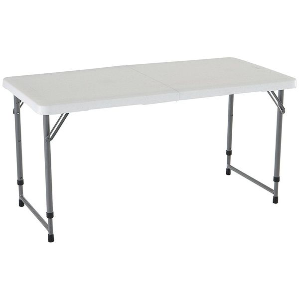 Lifetime 4 Foot Adjustable Height Folding Utility Table