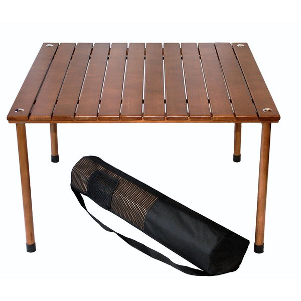 Portable Table with Carrying Bag, Brown